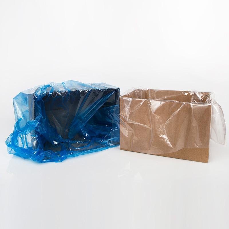 box liner, clear liner, gusseted liner