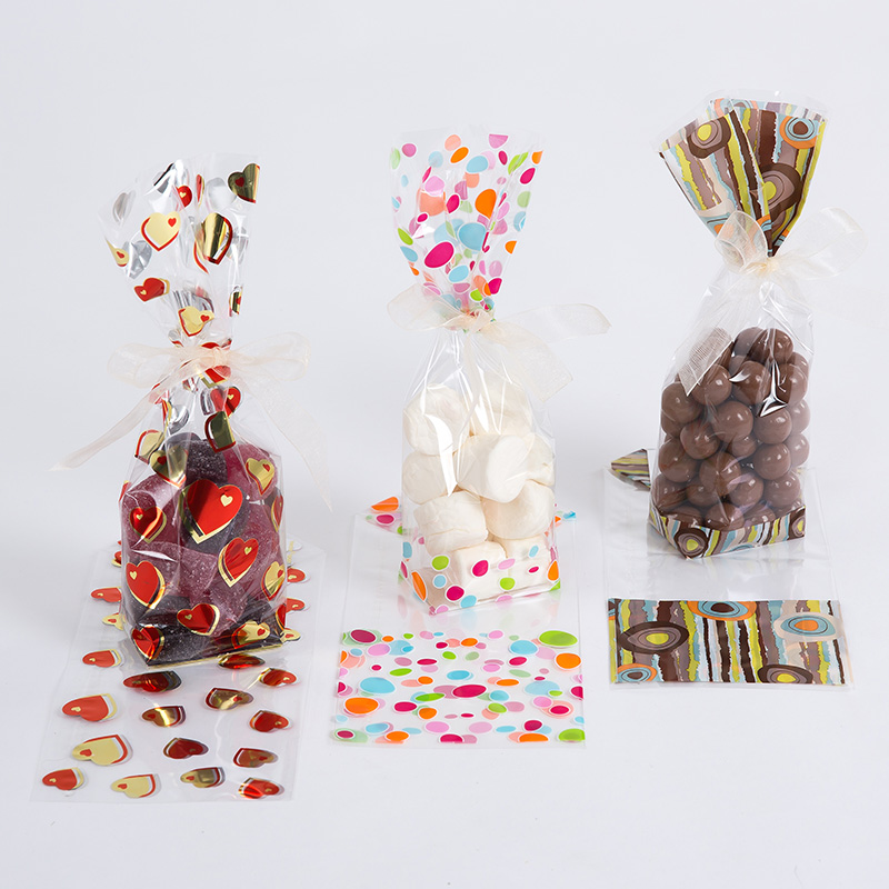 free standing plastic display bags